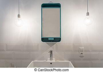 Modern design of mirror