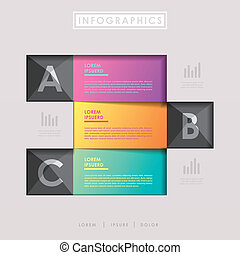 modern design paper banners template infographic