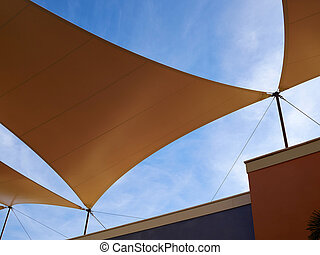 Modern design pergola arbor made with cloth fabric