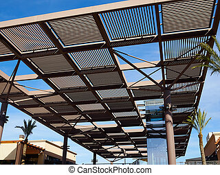 Modern design pergola arbor made wood and metal