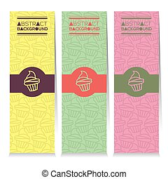 Colorful Cupcakes Vertical Banners