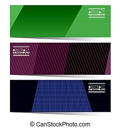 Modern Design Set Of Three Colorful Graphic Horizontal Banners Vector Illustration