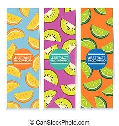 Juicy Fruit Parts Vertical Banners