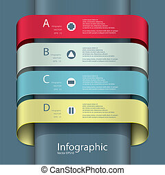 Modern Design template / can be used for infographics /...