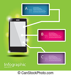 Modern Design template / can be used for infographics / numbered banners / horizontal cutout lines / graphic or website layout vector in EPS 10 format. Effect of Gradient fil and Multiply Layer used