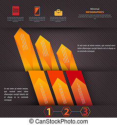 Modern Design template, can be used for infographics vector