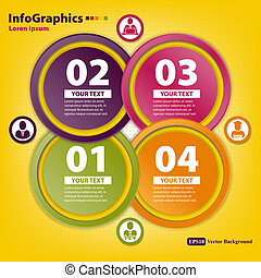 Modern Design template for infographics with four big circles