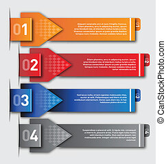Modern design template - numbered