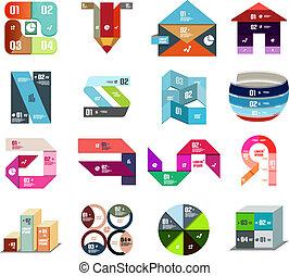 Modern design templates and elements set