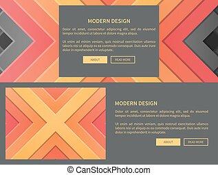 Modern Design Web Page on Vector Illustration