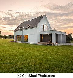 Modern design white villa