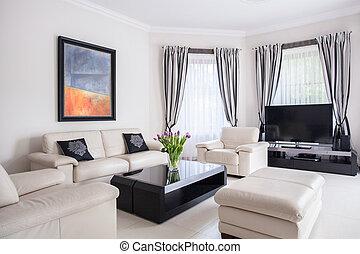 Modern designed living room - Picture of modern designed...