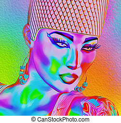 Modern digital art image of a woman