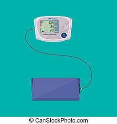 modern digital blood pressure measuring