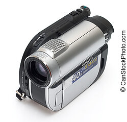 Modern digital camera isolated