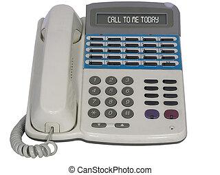 Modern Digital Phone. Isolated on white.