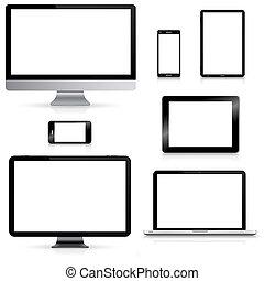 Modern digital tech device collection - Modern digital tech...