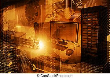 Modern digital technology background