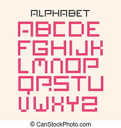 Modern Digital Vector Alphabet Set