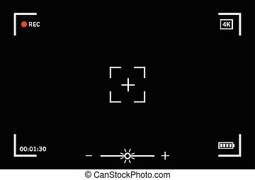 Modern digital video camera focusing screen