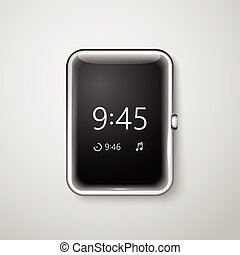 Modern digital watches template. Place your content into the screen