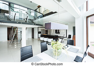 Modern dining room in property