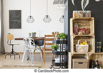 Modern dining room interior