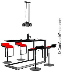 Modern Dining Room Table Vect...
