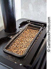 Modern domestic pellet stove