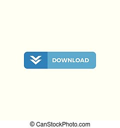 Modern Download Button Icon