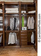 dressing room - modern dressing room interior detail