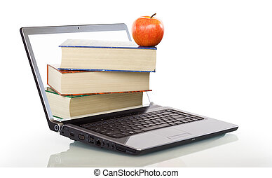 Modern education and online learning concept - isolated