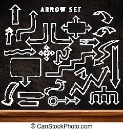 modern education concept arrows set