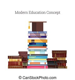 Modern Education - Vector illustration of modern education...