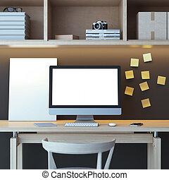 modern, edv, arbeitsbereich