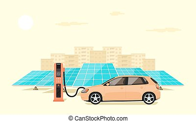 electric car charging - modern electric car charging at the ...