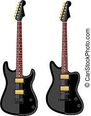 Modern electric guitars. Flat design. Vector illustration.