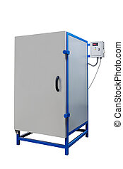 modern electric kiln on a white background