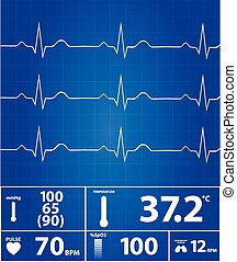 Modern Electrocardiogram Monitor