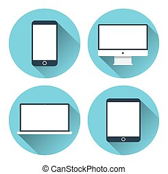 Modern electronic devices. Icon set