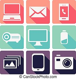 Modern Electronic devices set