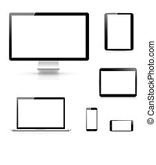 Modern electronic devices vector ep