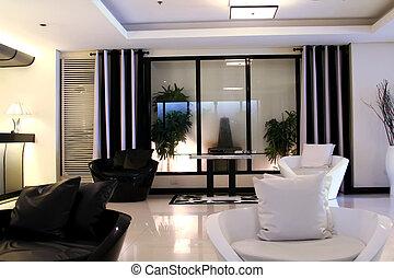 Modern elegant room - Living room waiting room with elegant...