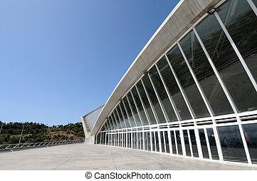 modern, ellen-, kanári, cruz, építészet, szent, tenerife, sziget, spanyolország