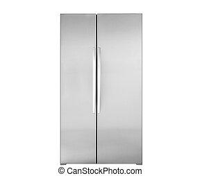 modern, elszigetelt, hűtőgép