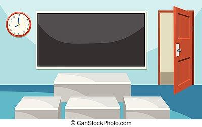 Modern empthy classroom background