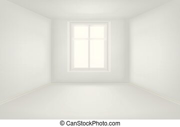Modern empty living room with white walls vector illustration