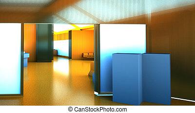 Modern empty lounge