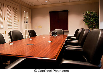 Modern Empty Meeting Room - A modern conference room with...