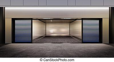 modern empty parking